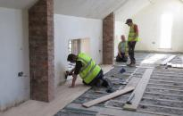 Viking Reclamation's expert floor laying specialists at work