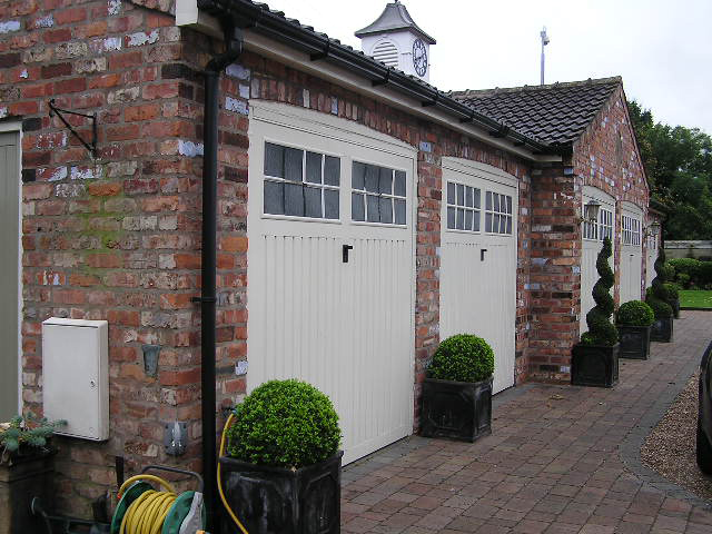 Garage Built With Reclaimed Bricks
